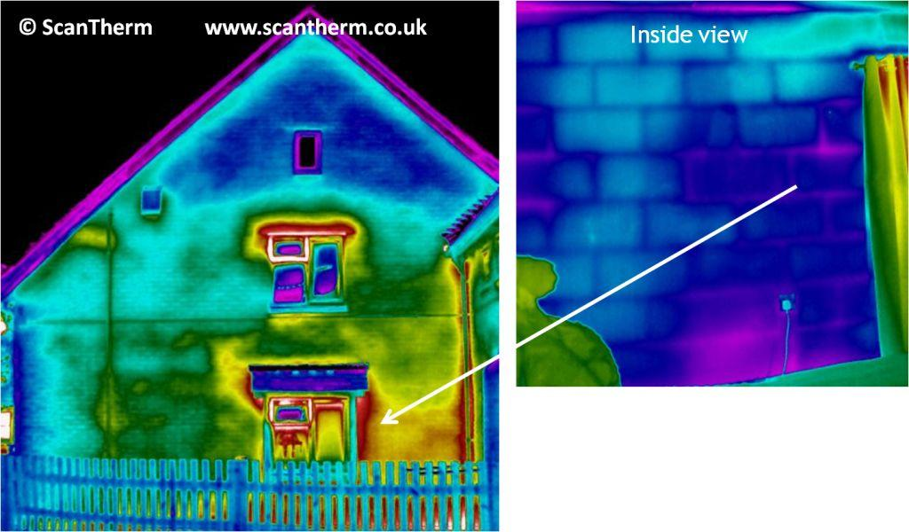 scantherm wet cavity insulation thermal image